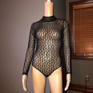 Black Lace bodysuit NWOT